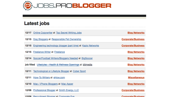 making or saving money  Cool Sites For Finding Blog Jobs