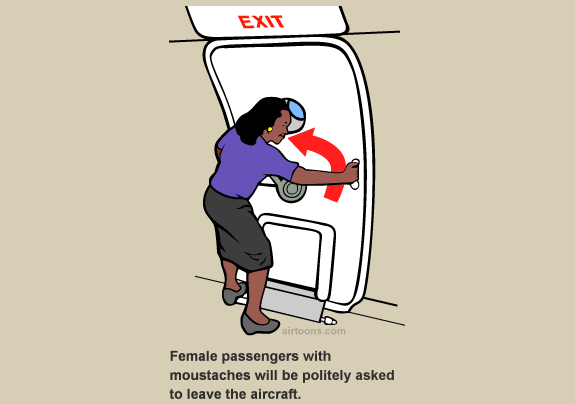 travel websites humorous  Airplane Safety Card Humor