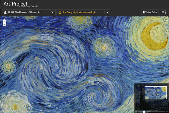 Virtually Visit Museums <br />via the Google Art Project