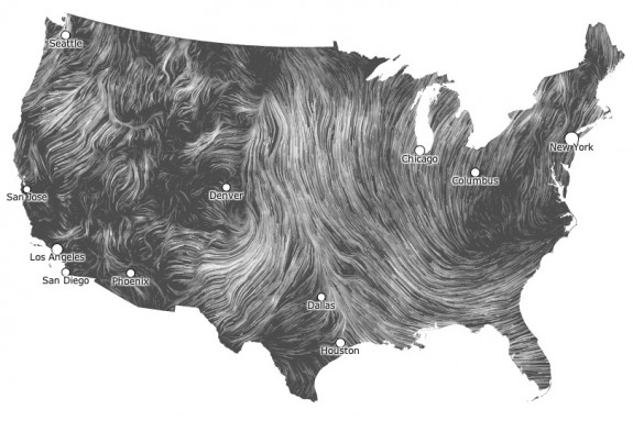 quirky  The Wind Map