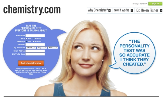 dating websites  eHarmony vs Chemistry.com